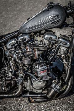 Motorbike Parts, Bobber Motorcycle, Motorcycle Engine, Bobber Chopper, Harley Davidson Engines, Harley Davidson Chopper, Vintage Bikes, Vintage Motorcycles, Bobber Custom