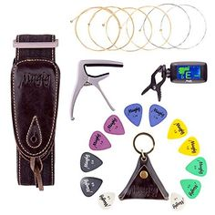 Clip-On Tuner with Battery  12 pcs picks & Leather Package  Guitar String  Zinc Aolly Guitar Capo  Adjustable Guitar Strap This is a top pick of a deal among the highest selling products online in Musical Instruments category in Canada. Click below to see its Availability and Price in YOUR country.