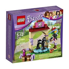 LEGO Friends 41123 Foal's Washing Station Building Kit (77 Piece) - Emma is getting Diamond the foal ready for her first horse show. Give her a good wash with the hose and special horse shampoo before grooming her with the brushes and combs. Then give Diamond an apple while you put a pretty bow in her mane-she's been such a good girl!.