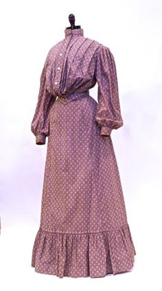 FC0365 Dress, cotton print, unlabelled, American (California), c. 1903-1905