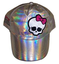 2174ff85910 Monster High Silver Baseball Hat - Toddler Monster High face add for style `