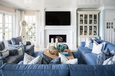 Bayshores - Barclay Butera Interiors Bedroom Design, Beach House Living Room, Family Room, Home Living Room, Coastal Living Rooms, House, House Flooring, Room, Bungalow Interiors