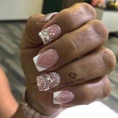 50 Beautiful Nail Art Designs & Ideas Nails have for long been a vital measurement of beauty and Super Nails, Nail Decorations, Beautiful Nail Art, French Nails, Short Nails, Nail Inspo, Natural Nails, Nail Art Designs, Nailart