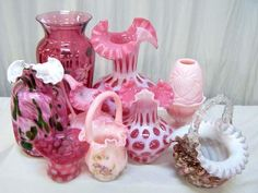 Pink Fenton Glass.