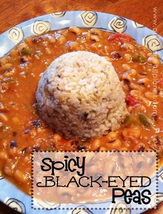 I was never a black eyed pea fan till I had them in this dish. Oh… my…. gosh. It's wonderful! You can serve it alone or with brown rice which goes extra good with it. FYI did you know they eat black eyed peas in the south for luck?