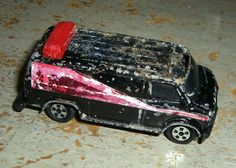 Vintage Toys The A Team Van  Black Van with Red by TheBackShak, $4.00