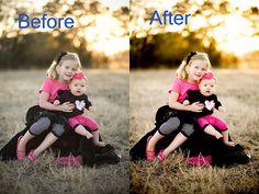 Photoshop tutorial - changing levels, soft light, dodge/burn/sponge tool