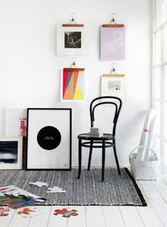 7 great ways to display art - no nails required!
