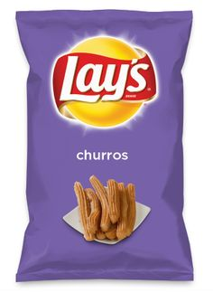 Wouldn't Churros be yummy as a chip? Lay's Do Us A Flavor is back, and the search is on for the yummiest is on- please vote for Churros! Lays Potato Chip Flavors, Lays Chips Flavors, Lays Potato Chips, Pringle Flavors, Bone Apple Tea, Around The World Food, Weird Food, Churros, Sweet And Salty