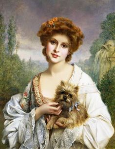 Unknown Title - Francois Martin-Kavel (French, by elsie Portraits, Portrait Paintings, Female Portrait, Female Art, Vintage Prints, Vintage Art, Vintage Paintings, Francois Martin, John William Godward