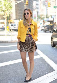 Meu Look: New York / Dia e Noite mix de estampa Meu Look NYC Meu Look look noite Estampa Leopard Outfits, Animal Print Outfits, Animal Print Fashion, Yellow Fashion, Stripes Fashion, Estilo Aria Montgomery, Miami Outfits, Street Style Summer, Fashion Outfits