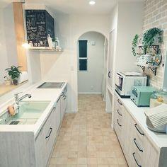 Kitchen Room Design, Kitchen Interior, Kitchen Decor, Apartment Layout, Apartment Interior, Room Interior, Design Oriental, Japanese Apartment, Diy Kitchen Storage