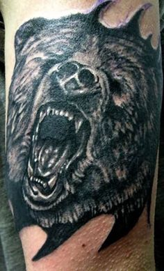 He is pretty cool Black Bear Tattoo, Bear Tattoos, Bear Face, Pretty Cool, Picture Tattoos, Ink, Tattoo Ideas, Design, Pictures