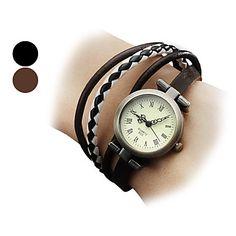 Frauen Fashional Art PU-Quarz Analog Armband Uhr (verschiedene Farben) – EUR € 5.51