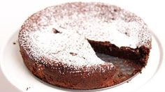Wouldn't call this healthy, but it's no carb! Flourless Chocolate Cake Recipe - Laura in the Kitchen