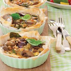 Mixed vegie tartlets