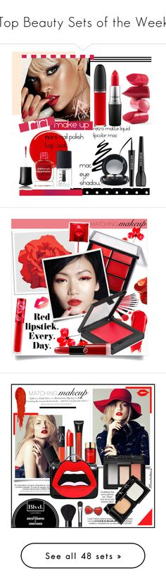 """""""Top Beauty Sets of the Week"""" by polyvore ❤ liked on Polyvore featuring beauty, Rossetto, MAC Cosmetics, Yves Saint Laurent, NARS Cosmetics, Deborah Lippmann, MAKE UP FOR EVER, Universal Lighting and Decor, Lime Crime and MAKE UP STORE"""