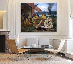 Baskets - 2017 - Dennis Blair - oil on canvas Barcelona Chair, Oil On Canvas, Baskets, Lounge, Furniture, Home Decor, Art, Airport Lounge, Art Background