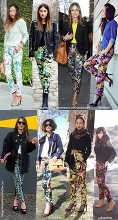 Floral Pants... loved Molly Ringwald then, love her now... love when she rocked the floral pants!  (in Pretty in Pink).  These are a few great modernized versions!