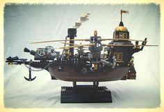 ~ Lego MOCs ~ lego steampunk gunship   by redfern1950s