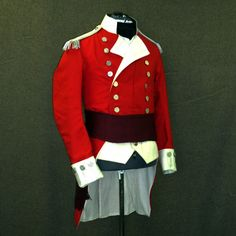 Marine Major Military Coats, Military Uniforms, Red Coats, British Army Uniform, Navy Marine, Napoleonic Wars, American Revolution, Larp, Regency