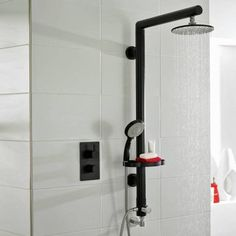Symmetry Black Shower Kit with Concealed Outlet Elbow - Image 2