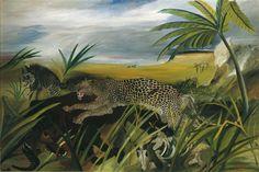 Antonio Ligabue, Leopardo con bufalo e iena