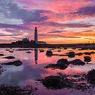 St marys lighthouse sunrise by tynesidephotos