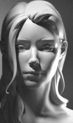 Sculpture Head, Plaster Sculpture, Stylo 3d, Anatomy Sculpture, Digital Sculpting, Digital Painting Tutorials, Anatomy Drawing, Zbrush, Art Sketchbook