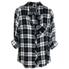 Rails Hunter Plaid Shirt in Pine/White (175 AUD) ❤ liked on Polyvore featuring tops, shirts, flannels, blouses, flannel tops, white shirt, tartan plaid shirt, white plaid shirt and button front tops