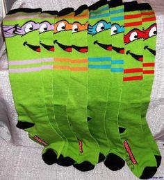 I need them :)  Ninja Turtle Knee High Socks