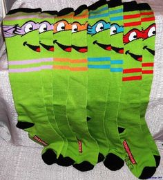 andy would love to wear these under his suit, haha. Ninja Turtle Knee High Socks