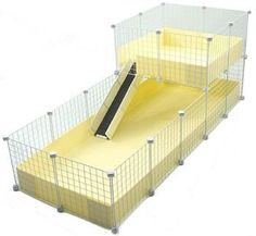 XL (2x5 Grids) / WIDE Loft - Deluxe Cages - C Cages for Guinea Pigs
