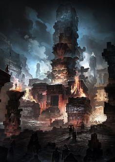 Maya civilization, Gao ZhingPing on ArtStation at https://www.artstation.com/artwork/maya-civilization