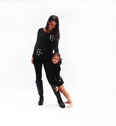 FW 14 The Matching Dots 2 KIDS FED FOR EVERY ITEM SOLD #madeinusa #designer #dresses #kids #fashion #matchy-match #mommyandme #dots #be #spotted #blackandwhite
