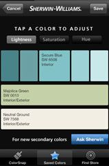 Sherwin Williams app for phone, snap a photo of something it tells you color and coordinating colors! So awesome