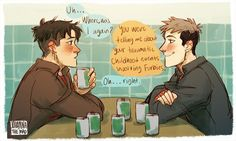 Haha well I didn't know Marco was afraid of furbies (honestly I am too, lol). Jean x Marco. Attack On Titan Jean, Attack On Titan Ships, Attack On Titan Anime, Monster Prom, I Ship It, Eruri, Levi X Eren, Cute Gay, Anime Ships