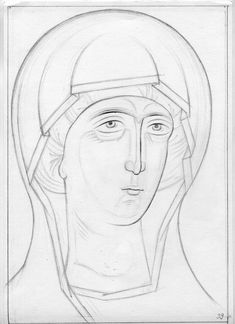 Teaching drawing more free materials on our site… Teaching Drawing, Paint Icon, Byzantine Icons, Painting Process, Orthodox Icons, Religious Art, Line Drawing, Icon Design, My Drawings