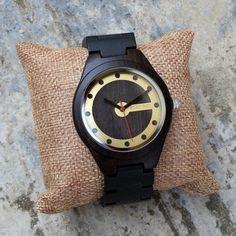 Drevené hodinky RETRO BLACK Wood Watch, Techno, Retro, Accessories, Black, Wooden Clock, Black People, Techno Music, Retro Illustration