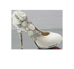 Schuhe strass absatz