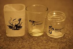 Going through a decluttering phase and found these shot glass gems! From left to right, we've got: Natural History Museum of Los Angeles in California, Museum of the Rockies in Bozeman, Montana, and World's Largest #Dinosaur in Drumheller, Alberta #iknowdino #dinosaur Drumheller Alberta, Largest Dinosaur, Dinosaur Gifts, Natural History Museum, Shot Glasses, Decluttering, Montana, Gems, California