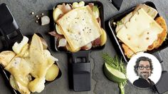 3 combinations raclette par Christian Bégin #IGA #Recettes #StValentin Fondue Raclette, Raclette Recipes, Fromage Cheese, Camembert Cheese, Confort Food, Mashed Potatoes, Christian Bégin, Appetizers, Chicken