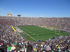 Attend a Notre Dame football game one day! Notre Dame Stadium, South Bend, IN Nd Football, Football Stadiums, College Football, Notre Dame Football Stadium, Football Season, Sports Stadium, Stadium Tour, Dame Game, Notre Dame Irish