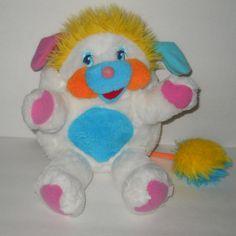 "Popples White Puffball 1986 Plush Stuffed 12"" 1986 Mattel Vintage #Mattel"