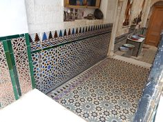 Moorish influence can be seen clearly here in this tile work in #Granada