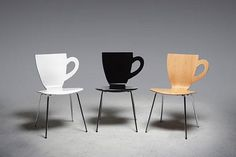 So I am looking for a dinning room table and chairs & two 'coffee' chairs, found these! Why don't they have these at Starbucks for woman with purses! Very cool. I want these.... so cute!