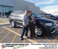 Happy Anniversary to Chastity Atchley on your 2013 #Dodge #Durango from David Campos  and everyone at Dodge City of McKinney! #Anniversary