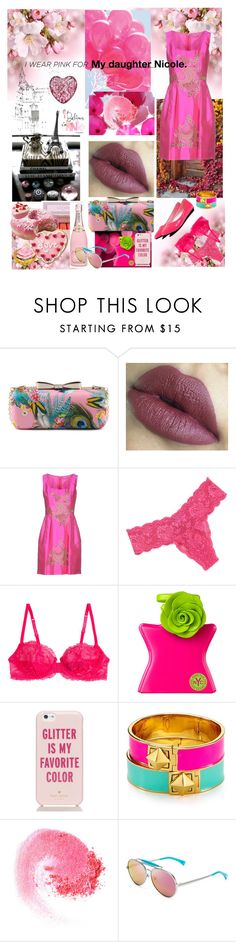 """""""I wear Pink for my daughter Nicole."""" by angelihenkle ❤ liked on Polyvore featuring Ermanno Scervino, Cosabella, La Perla, Bond No. 9, Kate Spade, NARS Cosmetics, Wildfox, Waterford and IWearPinkFor"""