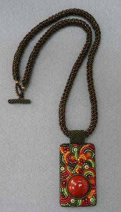 Absolutely Beads 2007 Chris Helmholz - Sunset Necklace  Bellevue, WA