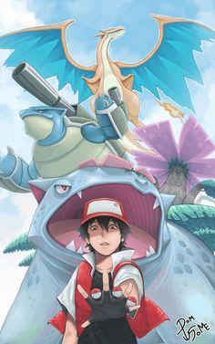 Pokemon Fire Red (Mega Charizard Y, Mega Venusaur and Mega Blastoise) Pikachu, Pokemon Firered, First Pokemon, Pokemon Original, Pokemon Trainer Red, Cute Pokemon Wallpaper, Otaku, Pokemon Images, Charizard